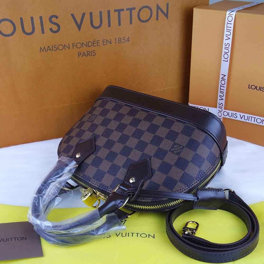 Louis Vuitton Damier Canvas Alma %100 Hakiki Vejital Deri (CRL 674 ... 4154fa4ae9